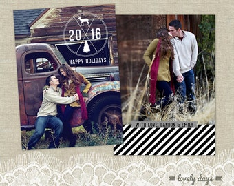 Holiday Card Photo Template for Photographers