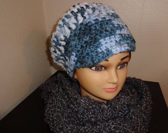 THE MANNER OF: NEWSBOY - STUNNING FANCY LARGE BLUE WOOL HAT