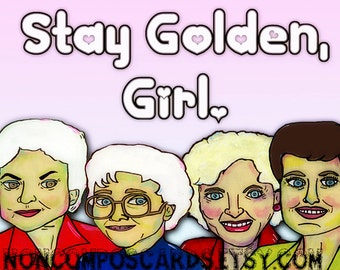 Golden Girls notecard blank greeting card Betty White