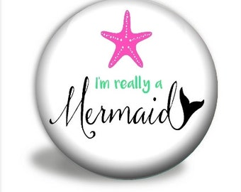 Pocket Mirror - Mermaid Mirror, I'm Really A Mermaid PM036