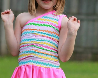 Ruched n' Ruffled Swimsuit Girls sizes 2t-7