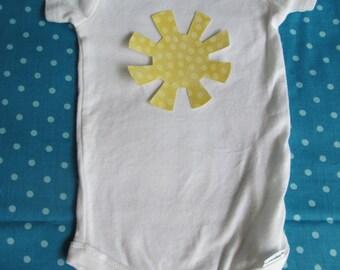 Sunshine iron on applique iron on sun to make a sunshine t-shirt or sunshine decor iron on sunshine for baby shower craft baby shower decor