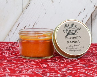 Farmer's Market Scent Candle 4 oz Mini Mason Jar Rustic Charm