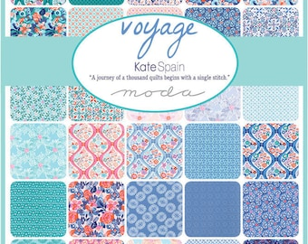 """VOYAGE - 5"""" Charm Pack by Kate Spain for Moda Fabrics - (42) 5"""" x 5"""" Squares - 27280PP"""