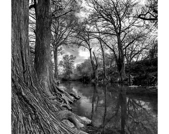 Magic River Fine Art Photography Texas Landscape Hill Country River view Guadalupe River Rustic home decor Large wall art Ranch house chic