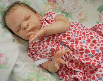 "Reborn baby realistic newborn Nellie Jo 20 "" 7lb 3oz artist painted JosyNN Cassie Brace sculpt Ltd Edition sculpt"