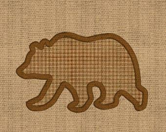Bear embroidery APPLIQUE bear embroidery design