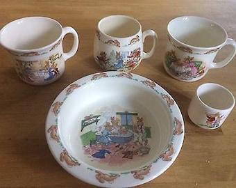 Royal Doulton Bunnykins - 5 piece tableware