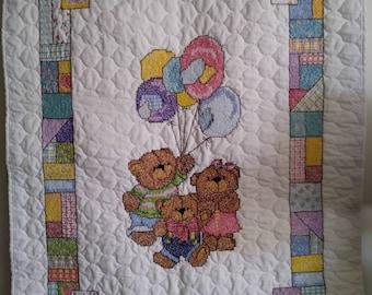 Patchwork Teddies Cross Stitch
