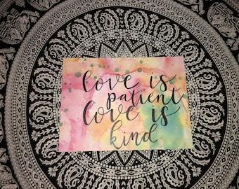I Corinthians 13:4 (9x12 in)