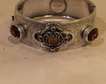 Silver hippie bracelet