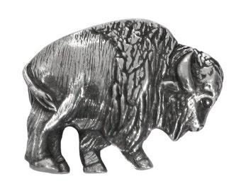 Danforth Buffalo 7/8 inch ( 22 mm ) Pewter Metal Button