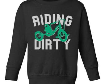 Riding Dirty by Kids Streetwear Infant Toddler Kids Sweatshirt
