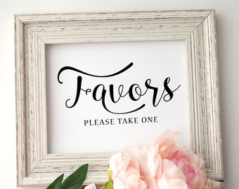 Wedding Favor Sign | Printable Wedding favor sign | INSTANT DOWNLOAD | Wedding signage | Printable Favors sign