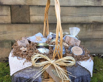 Chemo Comfort Gift Basket -  Cancer Patient Support - Extra Large in Ivory