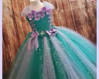 Princess Mermaid inspired tutu dress