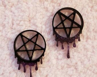Drippy Star Earrings