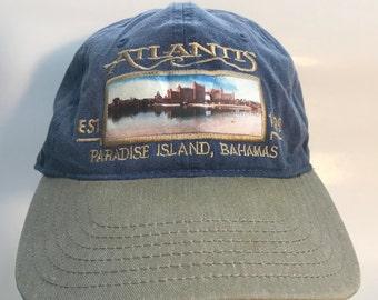 ATLANTIS Paradise Island Bahamas 2 Tone denim Hat