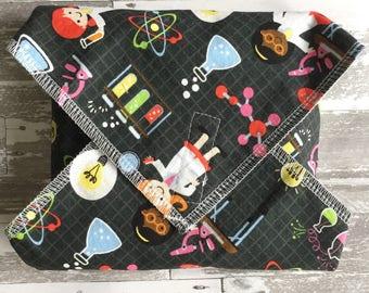 Sandwich Wrap, Gift for Her, Zero Waste, Reusable Food Wrap, Female Scientist, Girls Science, Cotton Sandwich Wrap, EcoFriendly lunch