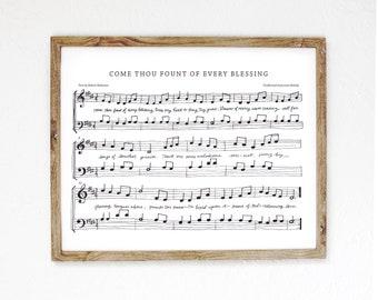 Come Thou Fount Hand-Drawn Hymn