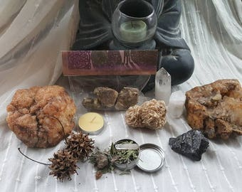 Frugal Witch Mystery Box/Grab bag/Pagan tools and Supply/Witchcraft Supplies/Witches Surprise Box/Witch's Alter/Crystals Smudge and More