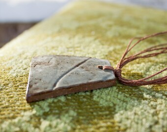 Ghost of Spring 1 - rustic stoneware necklace