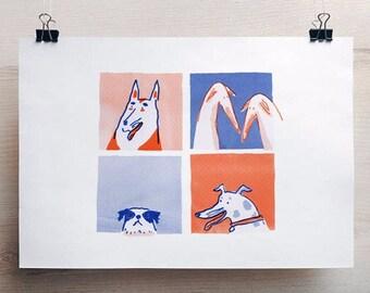 Dogs-Press Risograph