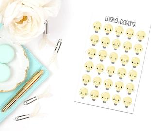 Kawaii Light Bulb Planner Stickers