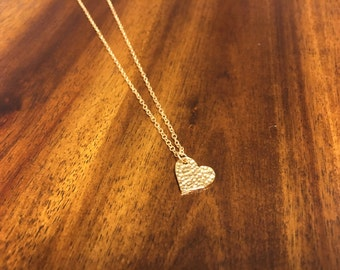Heart Necklace - Small Heart Necklace - Tiny Heart Necklace - Heart Jewelry - Heart Pendant - Heart Charm - Gold Heart - Heart - Love - Gold