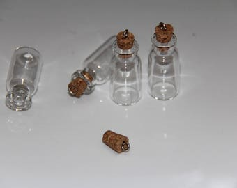 Charm size vial medium glass