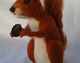 Needle Felt Squirrel Kit LARGE