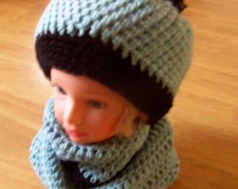 Green Hat and Snood color set