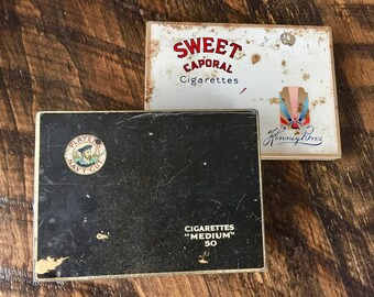 Vintage PLAYERS, SWEET CAPORAL Cigarette Tins, Imperial Tobacco, Players Tobacco, Vintage Advertising 1960s
