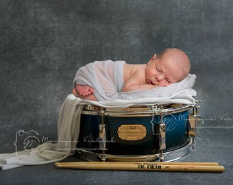 Digital backdrop snare drum newborn