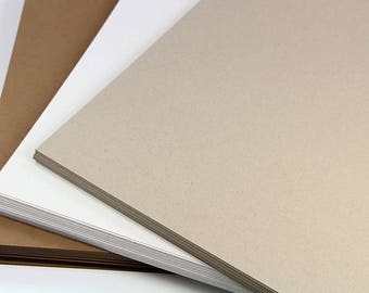 25 - 8 1/2 x 11 Card Stock  - Kraft Card Stock - Letter Size Paper