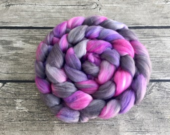 Once Upon A Dream - Hand Dyed Polwarth / Tussah Silk Roving  - 4 oz Spinning Fiber - Hand Dyed Fiber - Hand Dyed Roving
