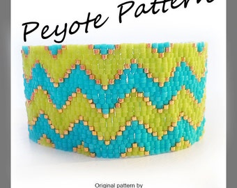 Chevron Peyote Pattern Bracelet - For Personal Use Only PDF Tutorial , chevron tutorial bracelet , delica beads bracelet tutorial