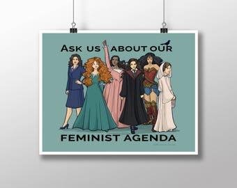 Feminist Agenda Medium Print (Item 03-384-BB)
