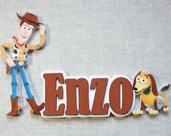 Woody - choose name door plaque