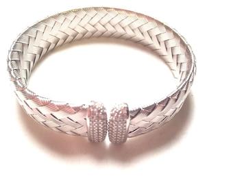 JCM CZ italy 925 sterling silver design bracelet