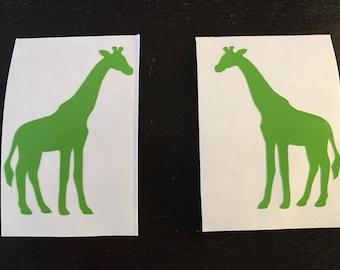 Giraffe Decal | Giraffe Sticker | Zoo | Wild Giraffe | Zoo Animal | Personalized | Custom Giraffe Sticker | Customized