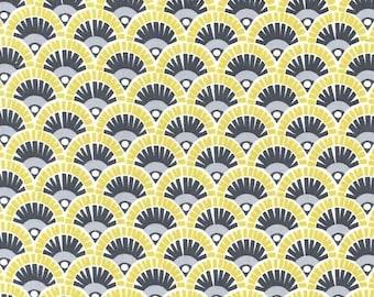 Michael Miller Fanny Citron Flannel Fabric, 1 yard