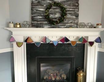 Colorful Crochet Garland/Bunting