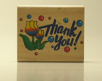 Wood Thank You Stamp