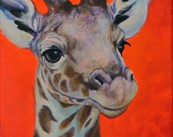 Baby Giraffe Giclee Print