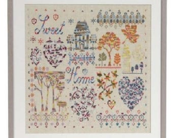 DMC Coloris Pattern, Chart Booklet -HOME, floral cross stitch, coloris thread, house sampler  pattern