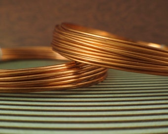 Half Hard Copper Wire - Solid Raw Metal - You Pick Gauge - 100% Guarantee - 16, 18, 19, 20, 21, 22, 24