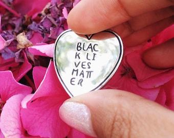Black Lives Matter Lapel Pin / BLM lapel pin / hard enamel #blm black lives matter pin / intersectional feminism lapel pin