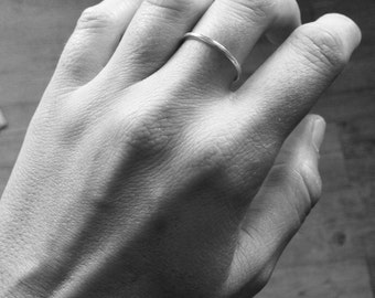 Ring and delicate, simple sterling silver ring