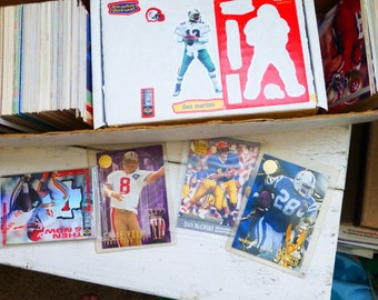 Sports cards, instant collection, baseball cards, football cards, basketball cards, collectible cards, vintage sports cards, gift idea